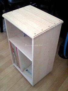 製作中の本棚